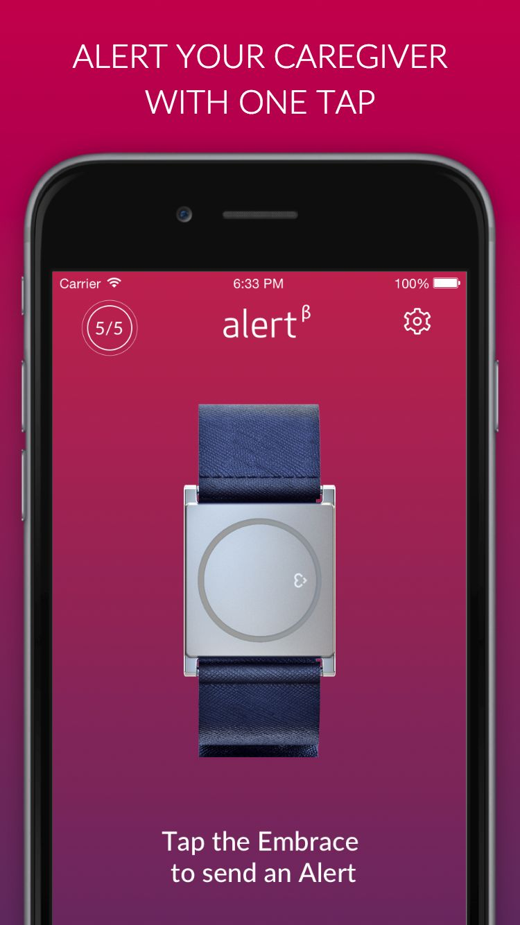 Alert Your Caregiver With One Tap